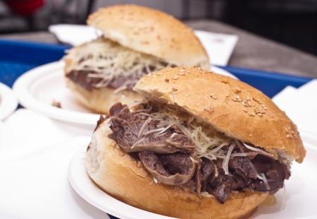 Sandwich with spleen  typical Sicilian food