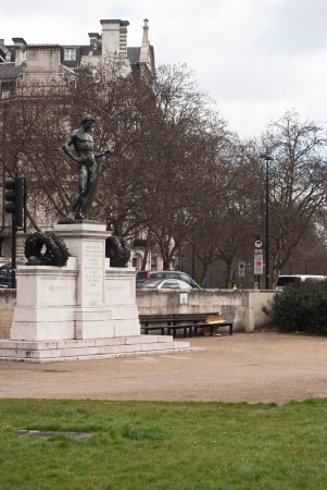 The Boy David, is a memorial to the dead of the Machine Gun Corps in the First World War at Hyde Park Corner in London Editorial