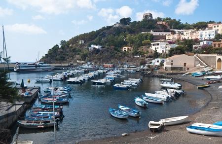 santa maria: harbour in Ustica island, Cala Santa Maria, Sicily