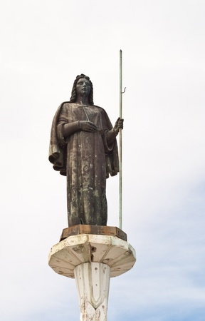 santa rosalia: Statue of Saint Rosalia in Monte Pellegrino, Palermo  Sicily Stock Photo
