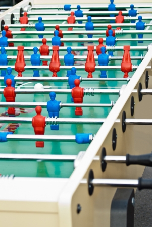 Table football game also known as foosball. maxi table photo