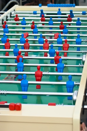 maxi: Table football game also known as foosball. maxi table