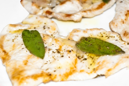 Chicken Breast with a sage and bio olive oil. Standard-Bild