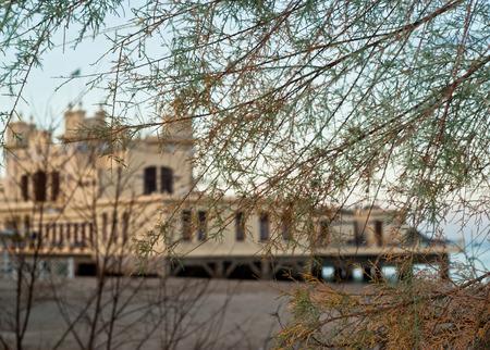 mondello: Charleston di Mondello sulla spiaggia. Palermo. Sicilia-Italia Archivio Fotografico