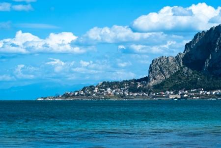 """mondello: La famosa spiaggia di """"Mondello"""" di Palermo, Sicilia"""