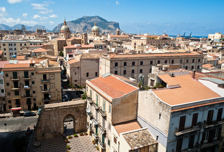 View of Palermo with old houses and monuments  sicily italy Stock Photo