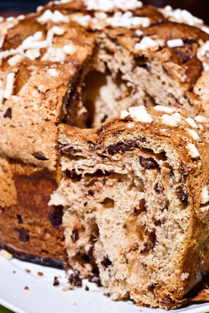 Colomba pasquale (Easter Dove). It is a typical italian eastern cake. It is similar to panettone and has the shape of a dove photo
