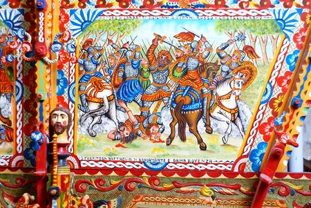sicilian: Old sicilian Cart  Carretto Siciliano
