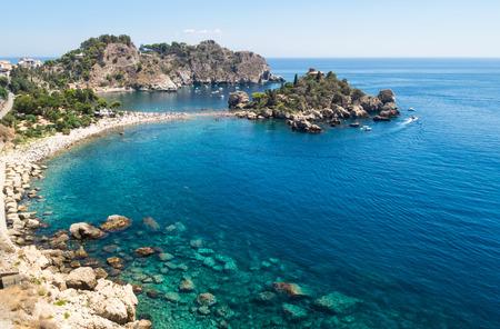isola: Panoramic view of Isola Bella, Taormina, Sicily