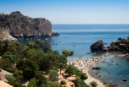 isola: Isola Bella beach at Taormina in Sicily, Italy