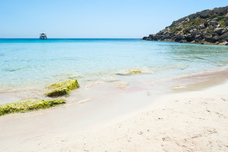 egadi: the wonderful beach cala azzurra in Favignana island.Sicily, Italy, Aegadian