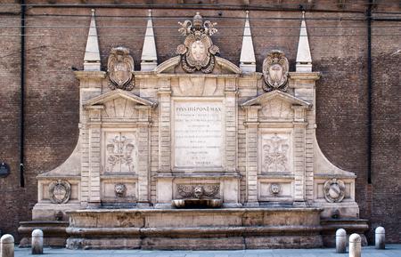 bologna: Fontana Vecchia in Bologna (old fountain), Italy.