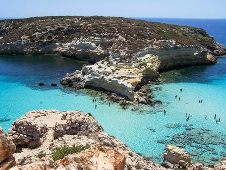 Isola di Lampedusa, Sicilia, Italia Archivio Fotografico - 49750348