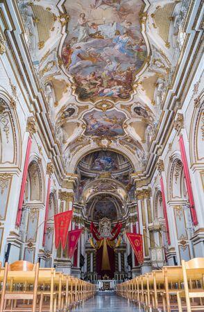 ragusa: Interior of Santa Maria Maggiore church in Ispica, Ragusa, Sicily