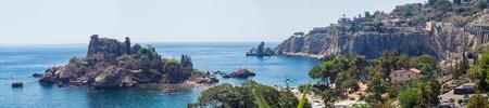 taormina: Panoramic view of Beautiful island, Taormina, Sicily, Italy