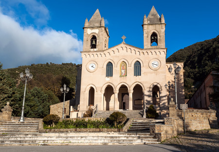 archangel: The Sanctuary of Gibilmanna is a Christian shrine in the province of Palermo, Sicily, southern Italy.On the site existed a church dedicated to St. Michael Archangel. Stock Photo