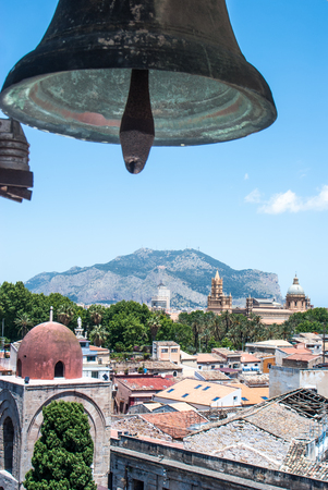 st  joseph: Palermo with panoramic views of the Cathedral and Hermits dome from the bell tower of St. Joseph Cafasso. Palermo, Sicily, Italy