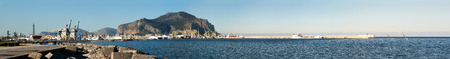 Panoramic view of Palermo. Foro Italico, Palermo, Sicily