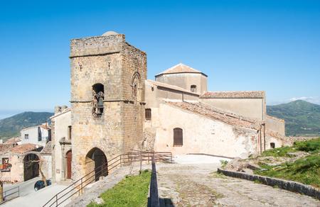 george: The Mother church of St. George- Chiesa di S. Giorgio Martire - in San Mauro Castelverde, Sicily, Italy