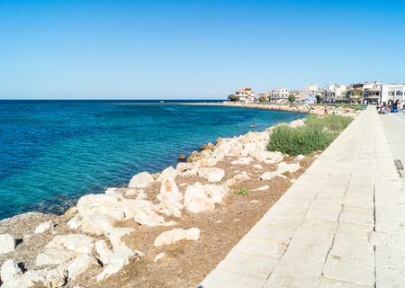 coastline of the sea village Marzamemi, Southeast Sicily
