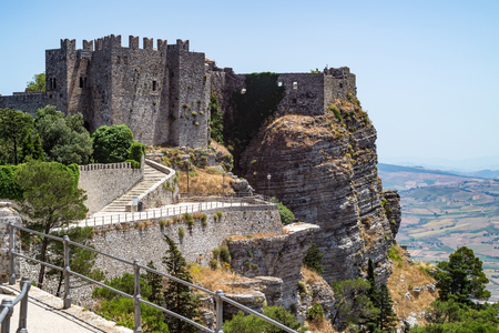 Venus castle in Erice, province of Trapani in Sicily, Italy.