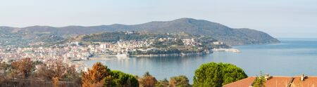 view on the harbor of Agropoli. Italy,Cilento,