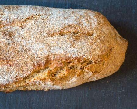 handmade italian bread. closeup