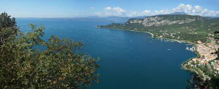 trekking to the fortress of the garda, rocca del Garda, Italy