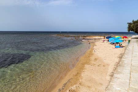 Beach of the sea village Marzamemi, Southeast Sicily