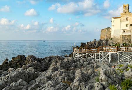 beautiful coastal town Cefalu in Sicily, Italy Editoriali