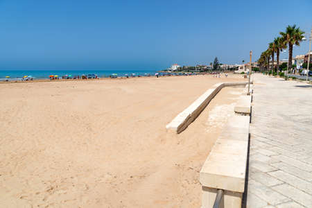 Beautiful beach of Donnalucata. Donnalucata is a maritime fraction of Scicli, Sicily
