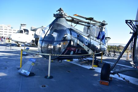 San Diego, California - USA - Dec 04,2016 - Utilitly Helicopter Midway Museum Editorial