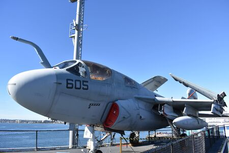 prowler: San Diego, California - USA - Dec 04,2016 - EA-6B Prowler USS Midway Museum