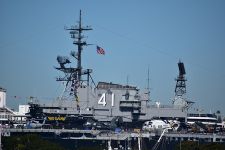 San Diego, California - USA - December 04, 2016: USS Midway Museum Naval Ship