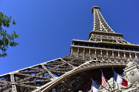Las Vegas, Nevada - USA - June 05,2017 - View of the Eiffel Tower