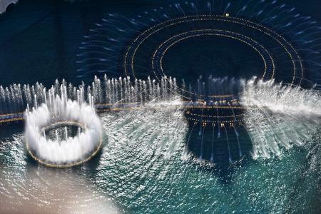 Las Vegas, Nevada - USA - June 05,2017 - Fountain Water show, Las Vegas