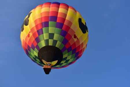 Lincoln, Illinois - USA - August 25, 2017: Butterfly Blue Sky Balloon Editorial