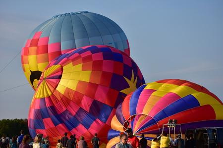 Lincoln, Illinois - USA - August 25, 2017: Colourful Balloon Festival