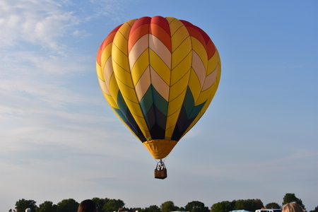 Lincoln, Illinois - USA - August 25, 2017: Yellow Air Balloon Editorial