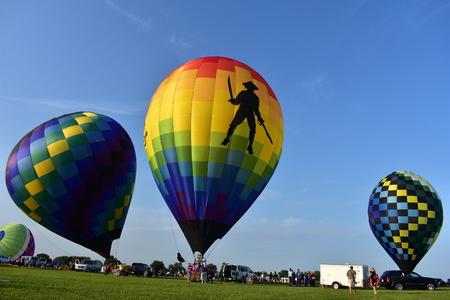 Lincoln, Illinois - USA - 25 août 2017: Fiesta de montgolfières Banque d'images - 85301738