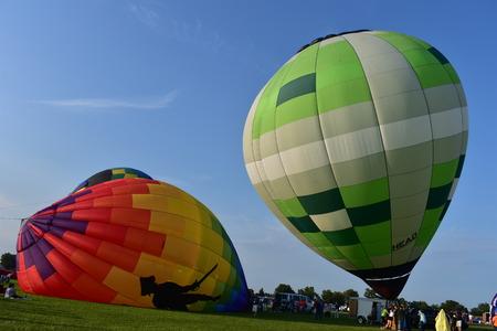 Lincoln, Illinois - USA - August 25, 2017: Logan County Balloon Fiesta 2017 Editorial