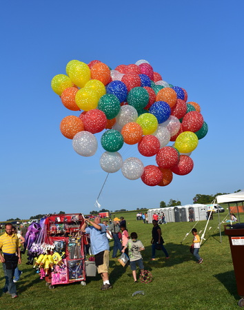 Lincoln, Illinois - USA - August 25, 2017: Colourful Hot Balloon Festival Editorial
