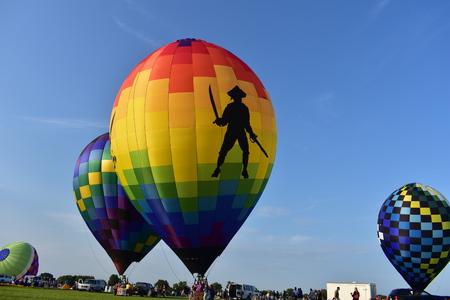 Lincoln, Illinois - USA - August 25, 2017: Hot Air Balloon Fiesta 2017 Editorial