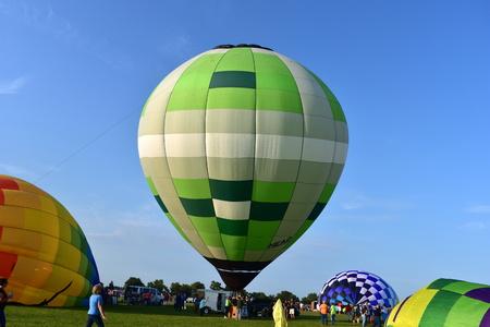 Lincoln, Illinois - USA - August 25, 2017: Logan County Balloon Fiesta Editorial