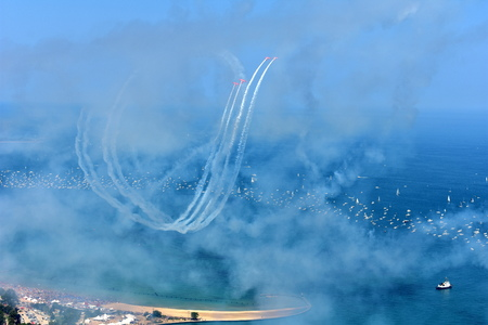 Chicago, Illinois - USA - August 19, 2017: 59th annual Chicago Air Show Editorial