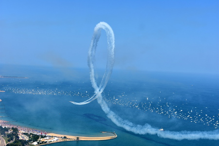 Chicago, Illinois - USA - August 19, 2017:  Air and Water Show