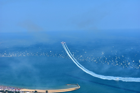 Chicago, Illinois - USA - August 19, 2017: Air Show Chicago Editorial