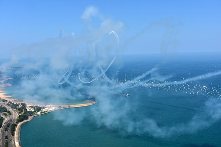 Chicago, Illinois - USA - August 19, 2017: 59th annual Chicago Air and Water Show