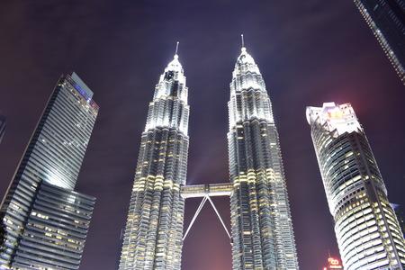 Kuala Lumpur, Malaysia - November 3, 2017: Night View of Petronas Tower