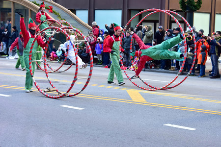 Chicago, Illinois, USA: November 23,2017: America Thanksgiving Parade in Chicago